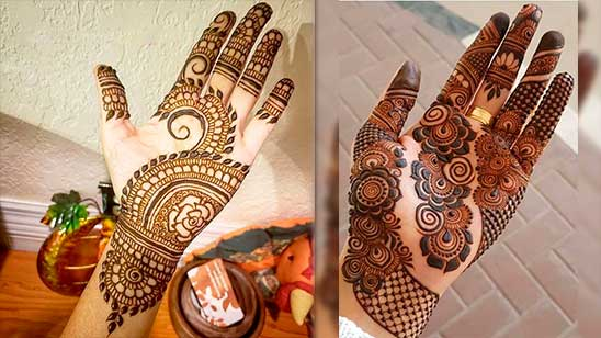 Easy and Simple Mehndi Design of Palm