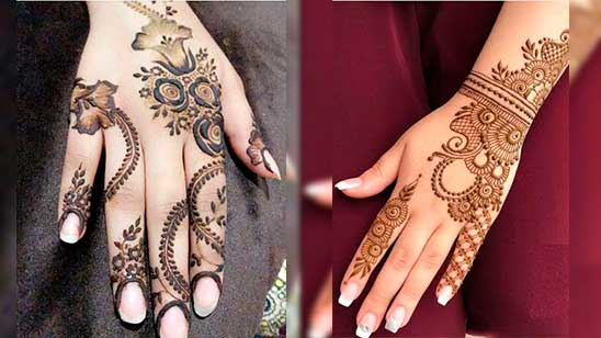 Easy and Simple Rose Mehndi Design