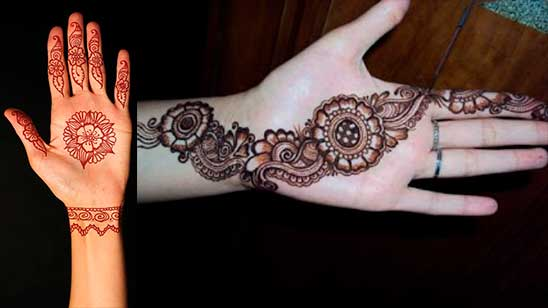 Easy and Simple Round Mehndi Design