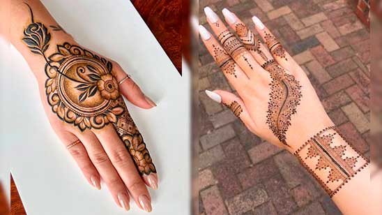 Easy and Simple Stylish Mehndi Design