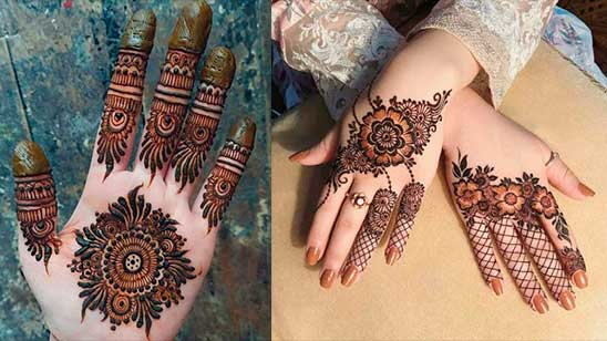 Finger Mehndi Design Simple