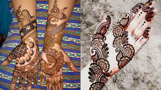 Front Hand Mehndi Design Easy
