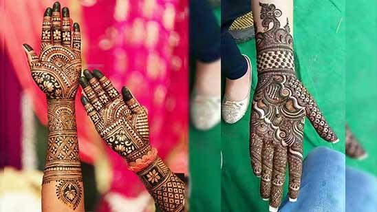 Front Mehndi Design Simple