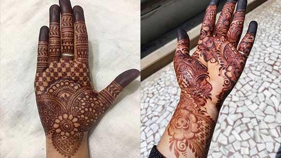 Hatheli Mehndi Design Simple