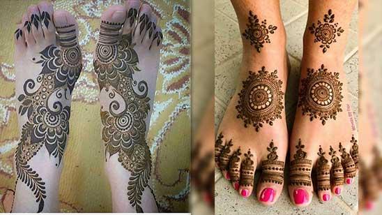 Leg Mehandi Design Simple