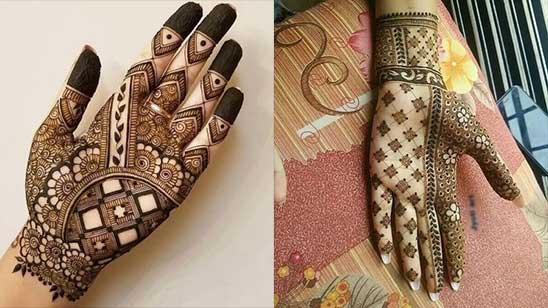Mahndi Design of Hatheli