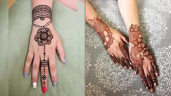 Mehndi Design Easy Bail