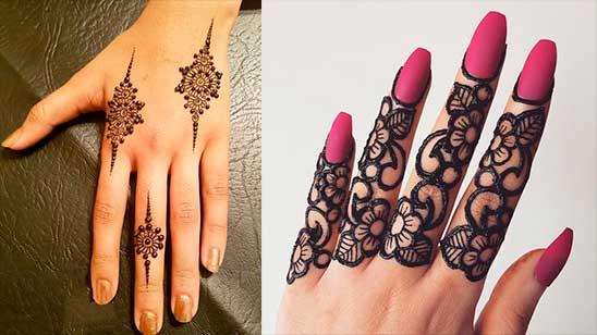 Mehndi Finger Designs Easy