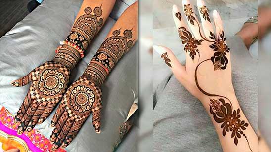 Rose Mehndi Design Simple