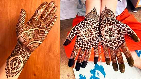 Simple Arabic Mehndi Designs for Back Hands