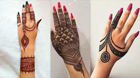 Simple Back Mehndi Design