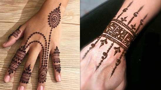 Simple Bracelet Mehndi Design