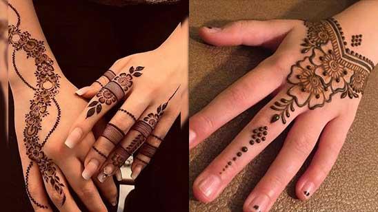 Simple Bracelet Mehndi Designs