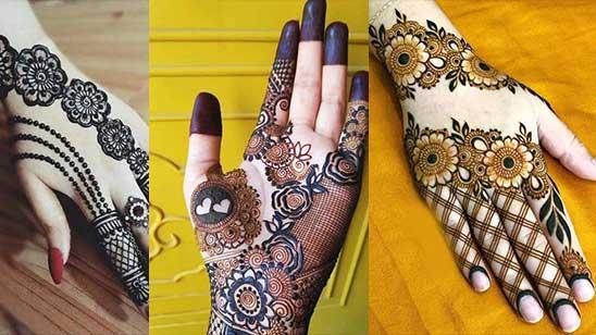Simple Bridal Mehendi Design
