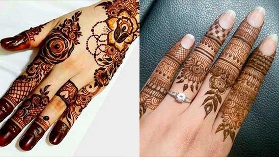 Simple Finger Mehendi Design