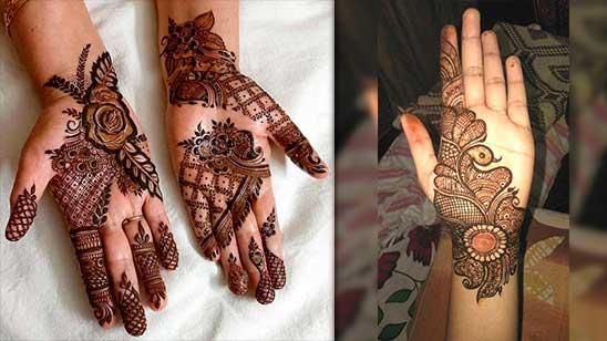 Simple Front Palm Mehendi Designs