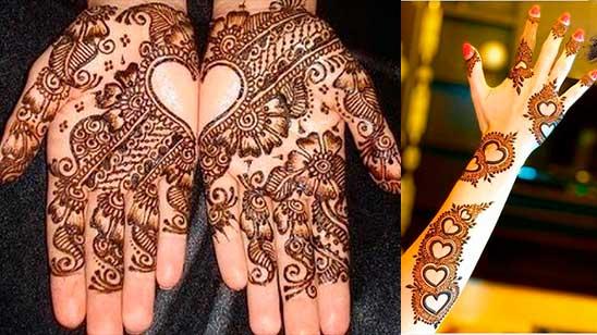 Simple Heart Mehndi Design