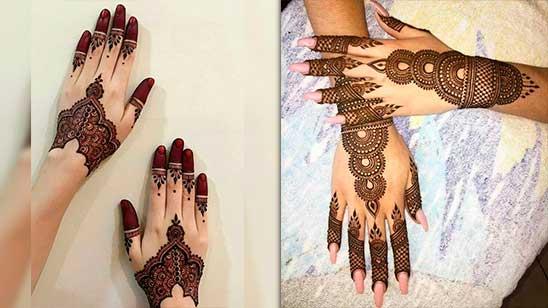 Simple Khafif Mehndi Design
