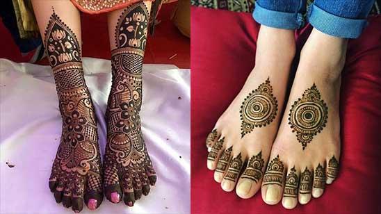 Simple Leg Mehndi Design