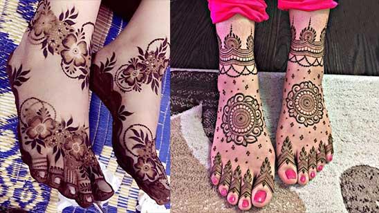 Simple Leg Mehndi