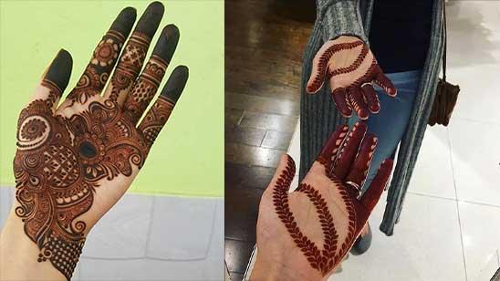 Simple Mahndi Design of Hatheli