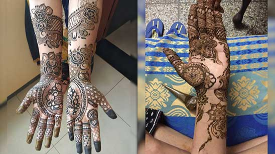 Simple Mehendi Design Front Hand