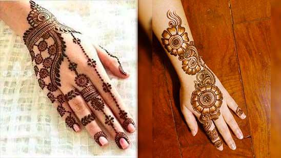 Simple Mehendi Design for Jewellery