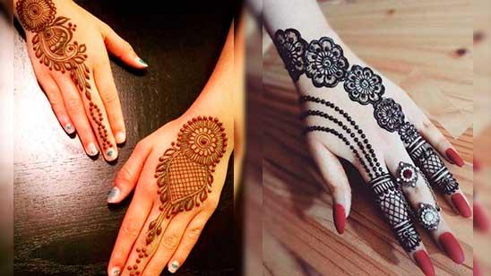 Simple Mehendi Design of Jewellery