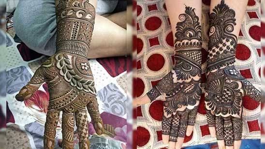 Simple Mehndi Design Front Hand