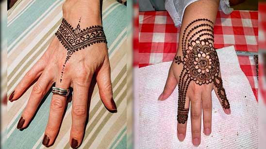 Simple Mehndi Design for Jewellery