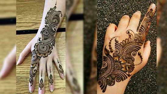Simple Mehndi Design for Left Hand Back Side