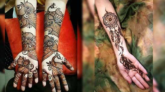 Simple Mehndi Design of Arm