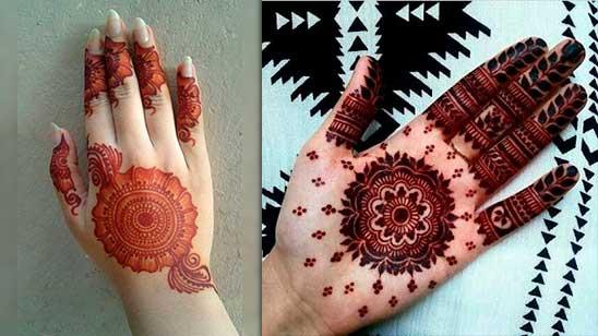 Simple Mehndi Design of Circle