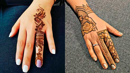 Simple Mehndi Design of Finger