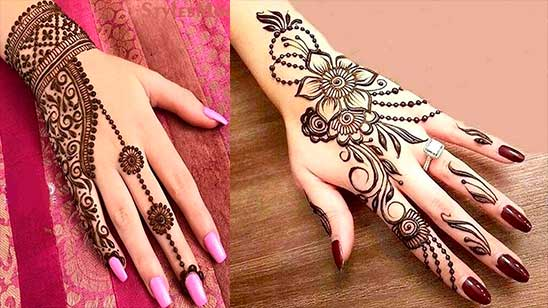 Simple Mehndi Design of Flower