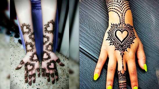 Simple Mehndi Design of Heart