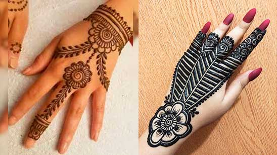 Simple Mehndi Design of Jewellery