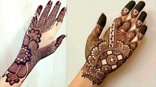 Simple Mehndi Design of Khafif