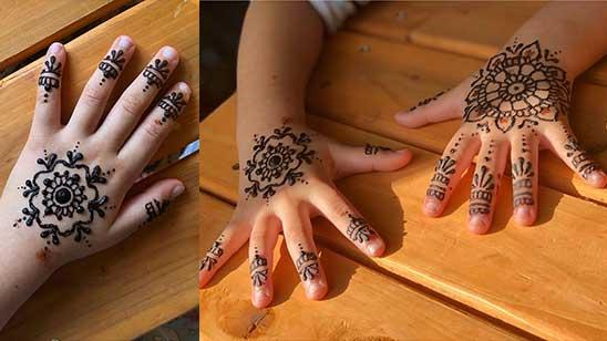 Simple Mehndi Design of Kids