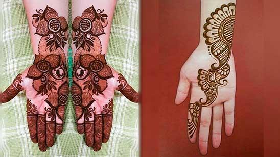 Simple Mehndi Design of Palm