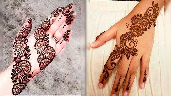 Simple Mehndi Design of Stylish