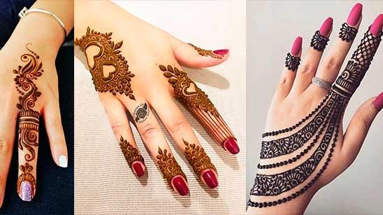 Simple Mehndi Finger Design