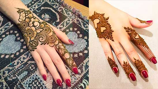 Simple Modern Mehndi Design