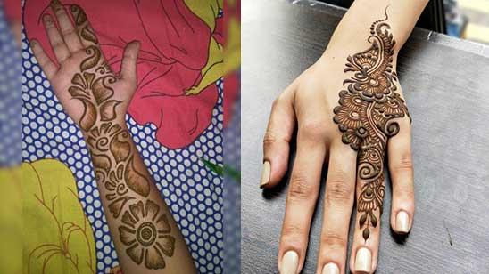 Simple Mylanchi Mehndi Design