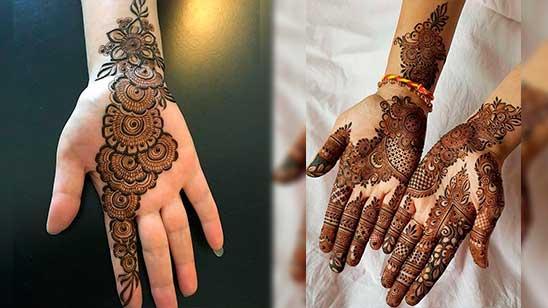 Simple Palm Mehndi Design