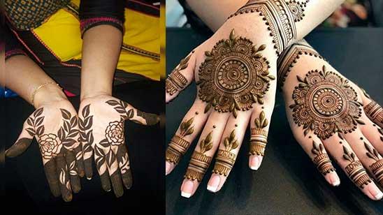 Simple Round Mehndi Design