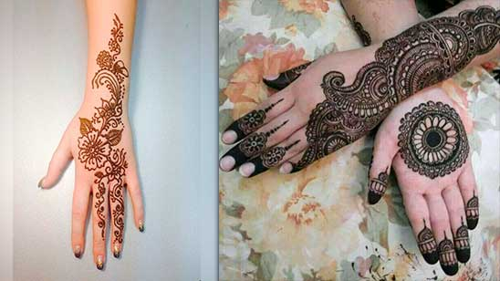 Simple and Easy Circle Mehndi Design