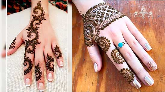Simple and Easy Finger Mehndi Design