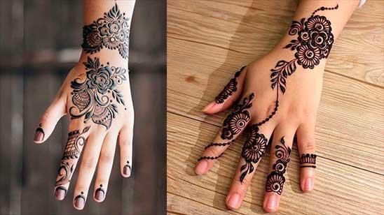Simple and Easy Flower Mehendi Design