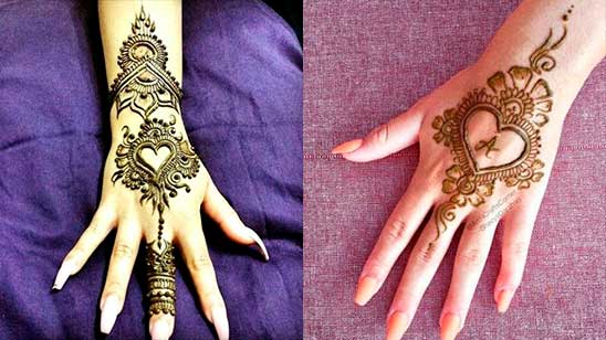 Simple and Easy Heart Mehndi Design